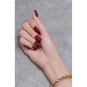 Classic Maroon (Matte) - The Fab Nails