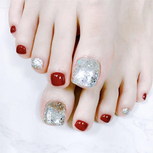 Light Red (Toe Nails) - The Fab Nails