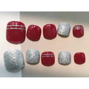 Toe-sted Red (Toe Nails) - The Fab Nails