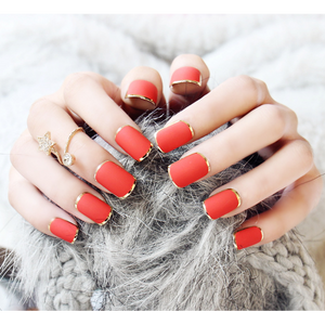 Golden Red (Matte) - The Fab Nails
