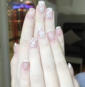 French Floral - The Fab Nails