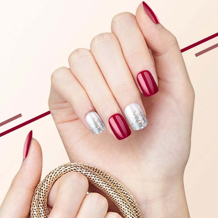 Glamour Red (Press On) - The Fab Nails