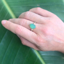 Load image into Gallery viewer, Chrysoprase Solitaire Ring