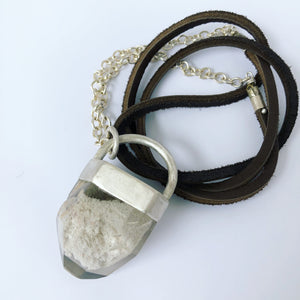 Capped Included Quartz Necklace
