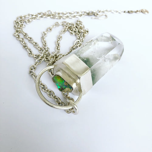 Opal Capped Quartz Necklace