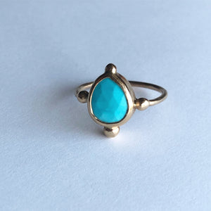 Sleeping Beauty Turquoise Solitaire Ring