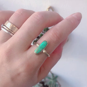 Chrysoprase Oval Solitaire Ring
