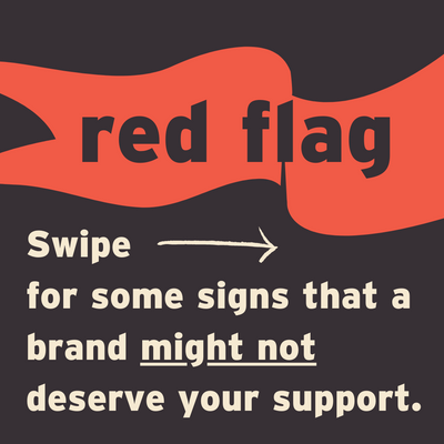 Red Flags that a brand doesn't deserve your money.