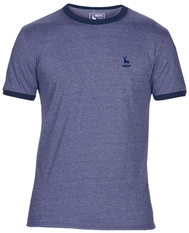 Hart Heather Blue Ringer T-Shirt