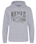 Never Say Die Hoodie - Heather Grey