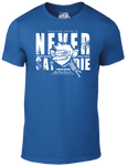 Never Say Die T-Shirt - Heather Blue