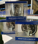 HUFC Whiskey Glass & Coaster gift set