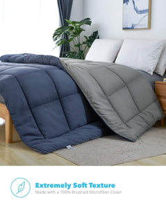 All-Season Quilted Comforter - Goose Down Alternative