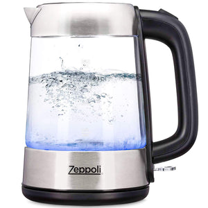 Electric Kettle C - Zeppoli Fast Boiling Glass Tea Kettle [Model 3]