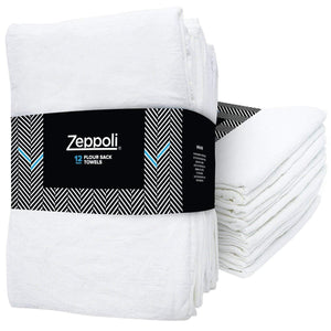 "Zeppoli Flour Sack Kitchen Towels - 31"" x 31"""