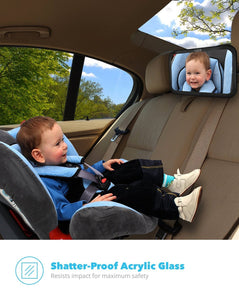 Back Seat Baby Mirror - Rear View Baby Car Seat Mirror by Baby & Mom