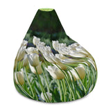 Bean Bag Chair w/ Filling, White Tulips Designs