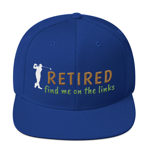 Custom Golf Hat for Retirees