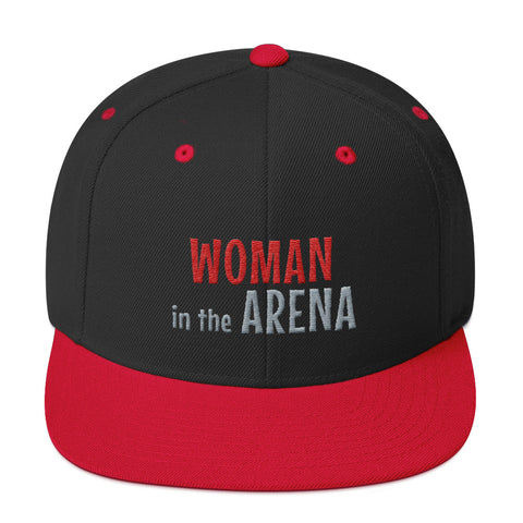 Woman in the Arena Motivational Hat
