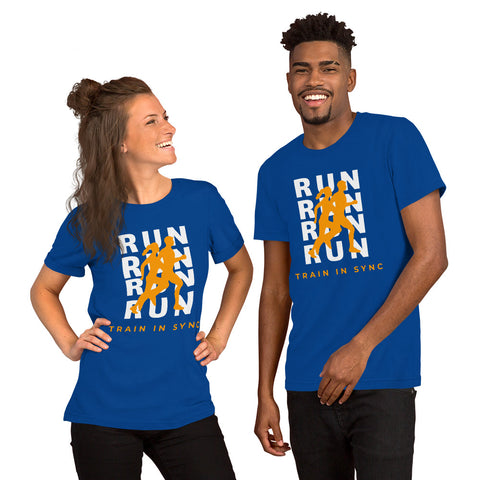 """Running in Sync"" Unisex T-Shirt"