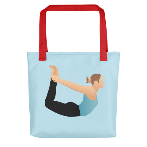 Blue Tote Bow Pose Pix Both Sides