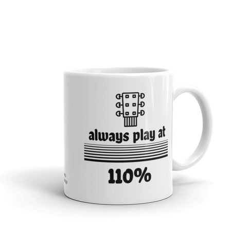 Guitar Coffee Mug, Play at 110%