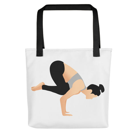 White Tote Crow Pose Pix Both Sides