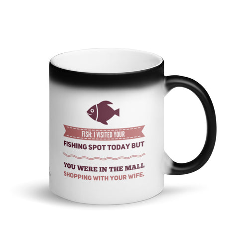 Fisherman Husband Magic Mug