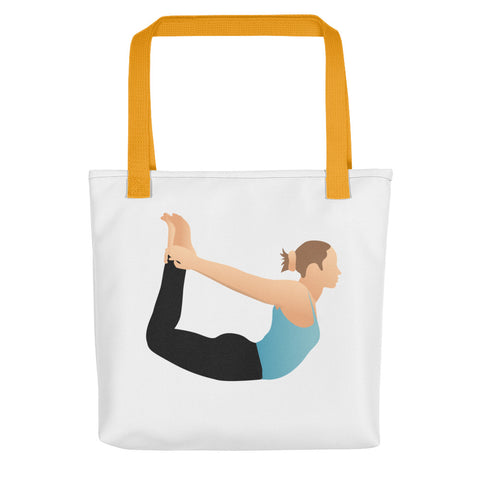 White Tote Bow Pose Pix Both Sides