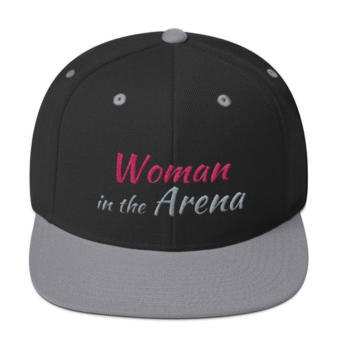 Woman in the Arena Motivational Cap