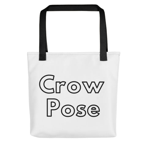 White Tote Crow Pose + Pix Design