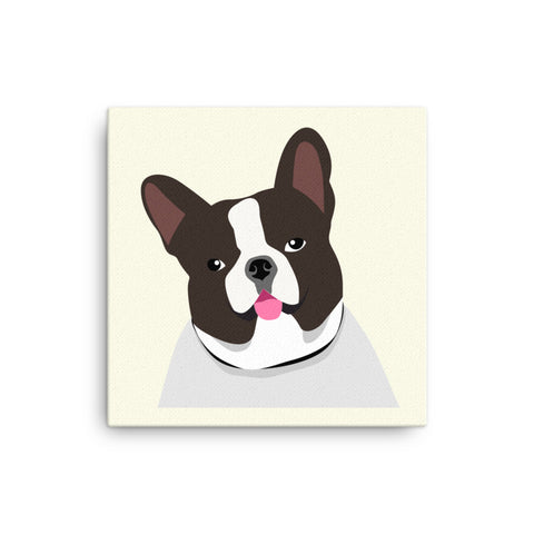 "French Bulldog Canvas Print 12"" to 36"""