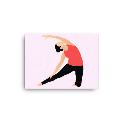 "Yoga Canvas Print Gate Pose Pink 16"" to 36"""