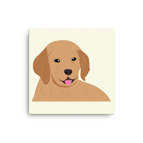"Golden Retriever Canvas Print 12"" to 36"""