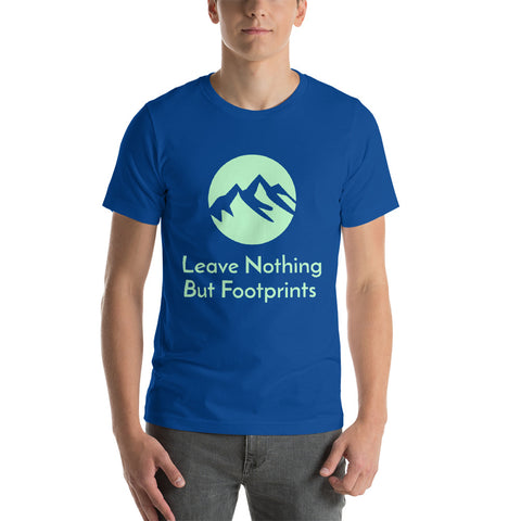 Hiking T-Shirt Leave Nothing But Footprints