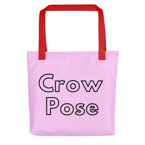 Pink Tote Crow Pose + Pix Design