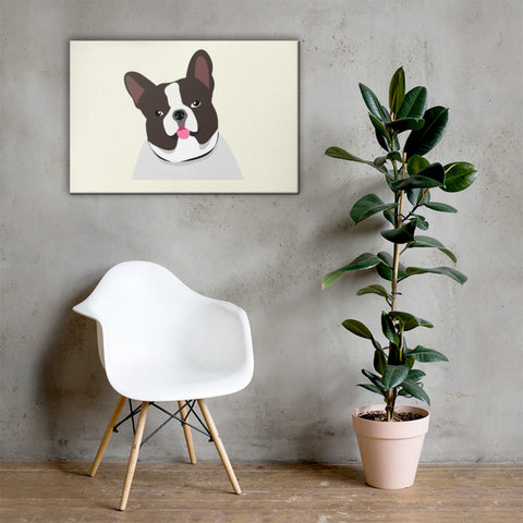 french bulldog canvas