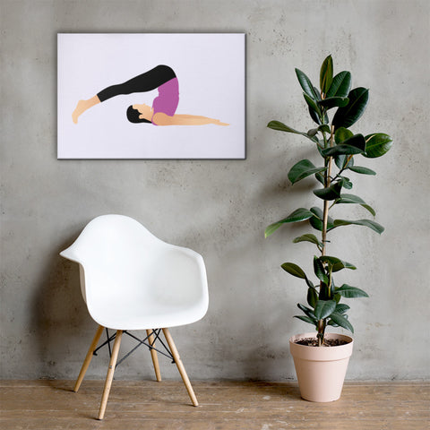 yoga canvas art
