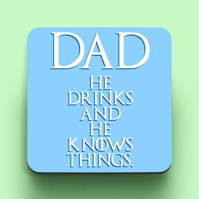 Dad Knows Things Coaster