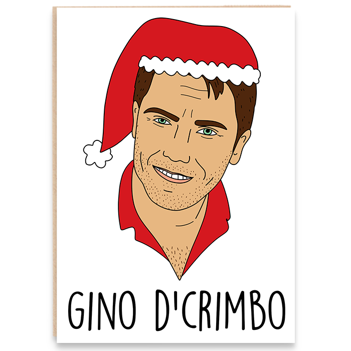 Drawing of Gino D'Campo and says Gino D'crimbo.