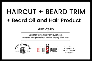 Haircut + Beard Trim + Hair Product + Beard Oil