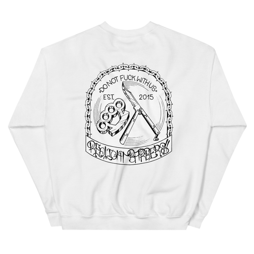 Sweatshirt - Do Not F*** With Us (White)