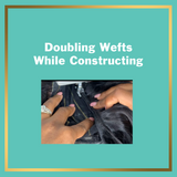 Doubling Wefts While Constructing