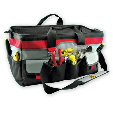 professional mason's tool bag, outside view