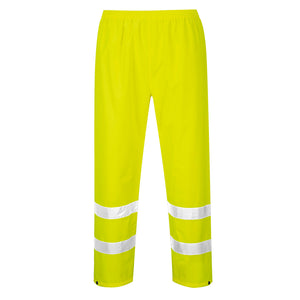 hi viz rain paints with reflective stripes