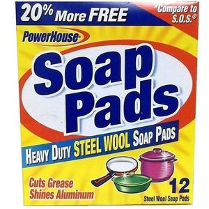 Soap pads, steel wool