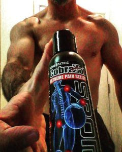 Brandon Richie MMA fighter and blogger uses Cobrazol Sport product to help ease muscle soreness and muscle pain fatigue from working out and training