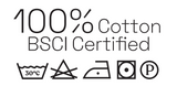 100% Cotton. BSCI certified