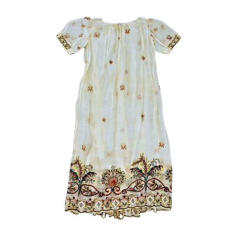 Hand-embroidered Piña Dress