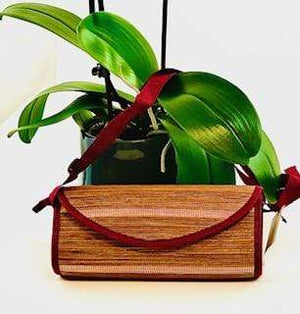 Open image in slideshow, WyohFlowers Bags & Purses Red Rectangular Palawan Natural Straw Bag